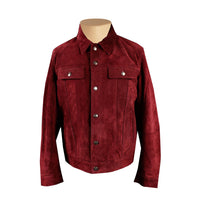 Weston's Maroon Suede Leather Shirt