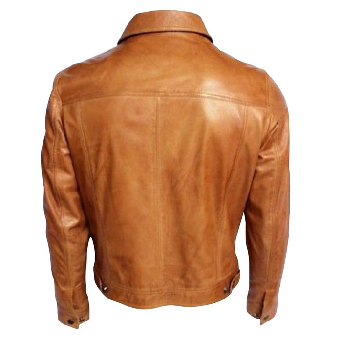 Glovers tan leather shirt