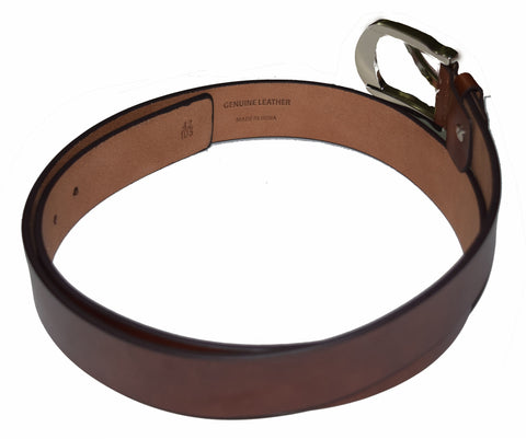 Casual brown wide leather belt
