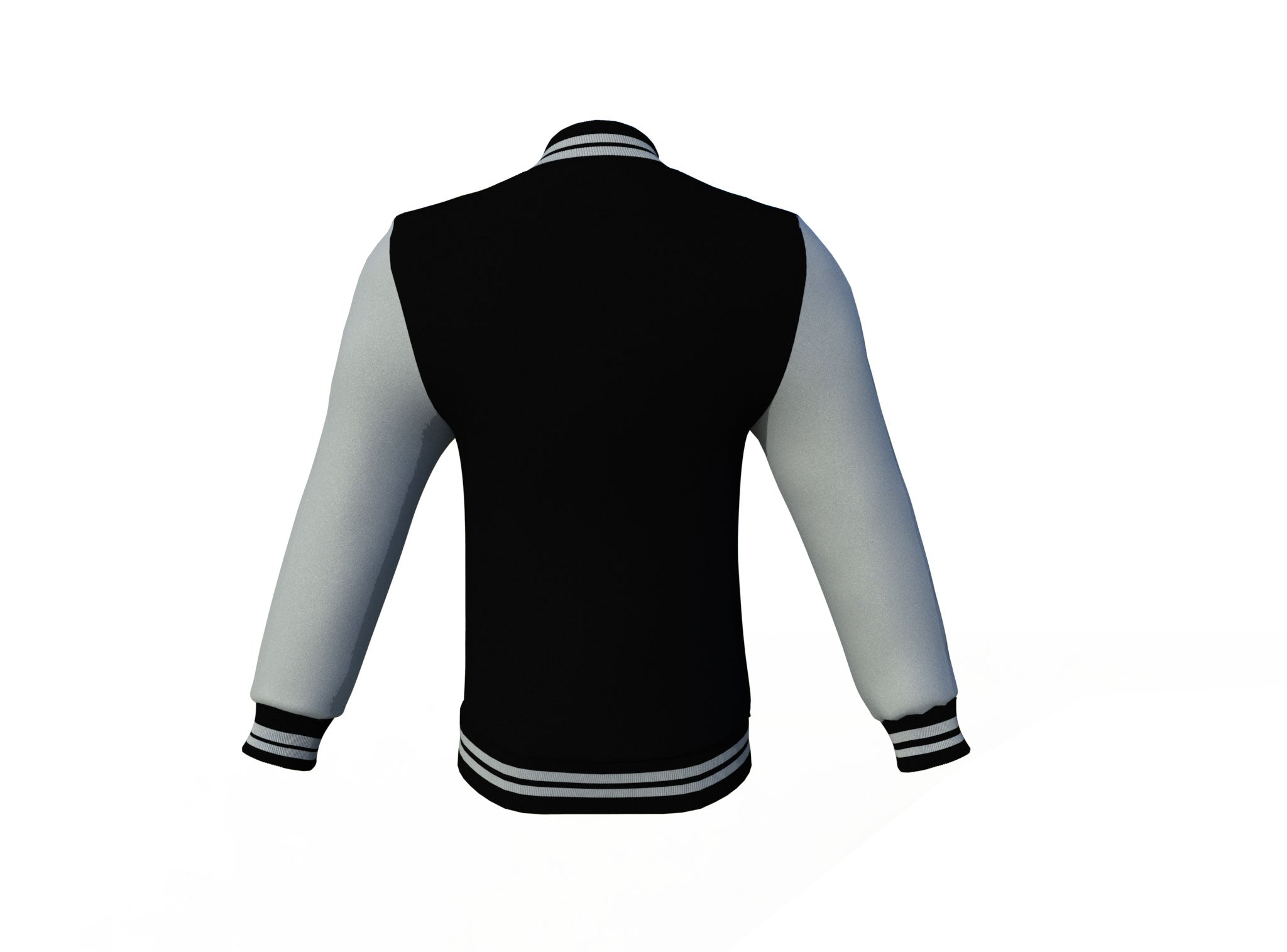 Black Varsity Letterman Jacket with Grey Sleeves