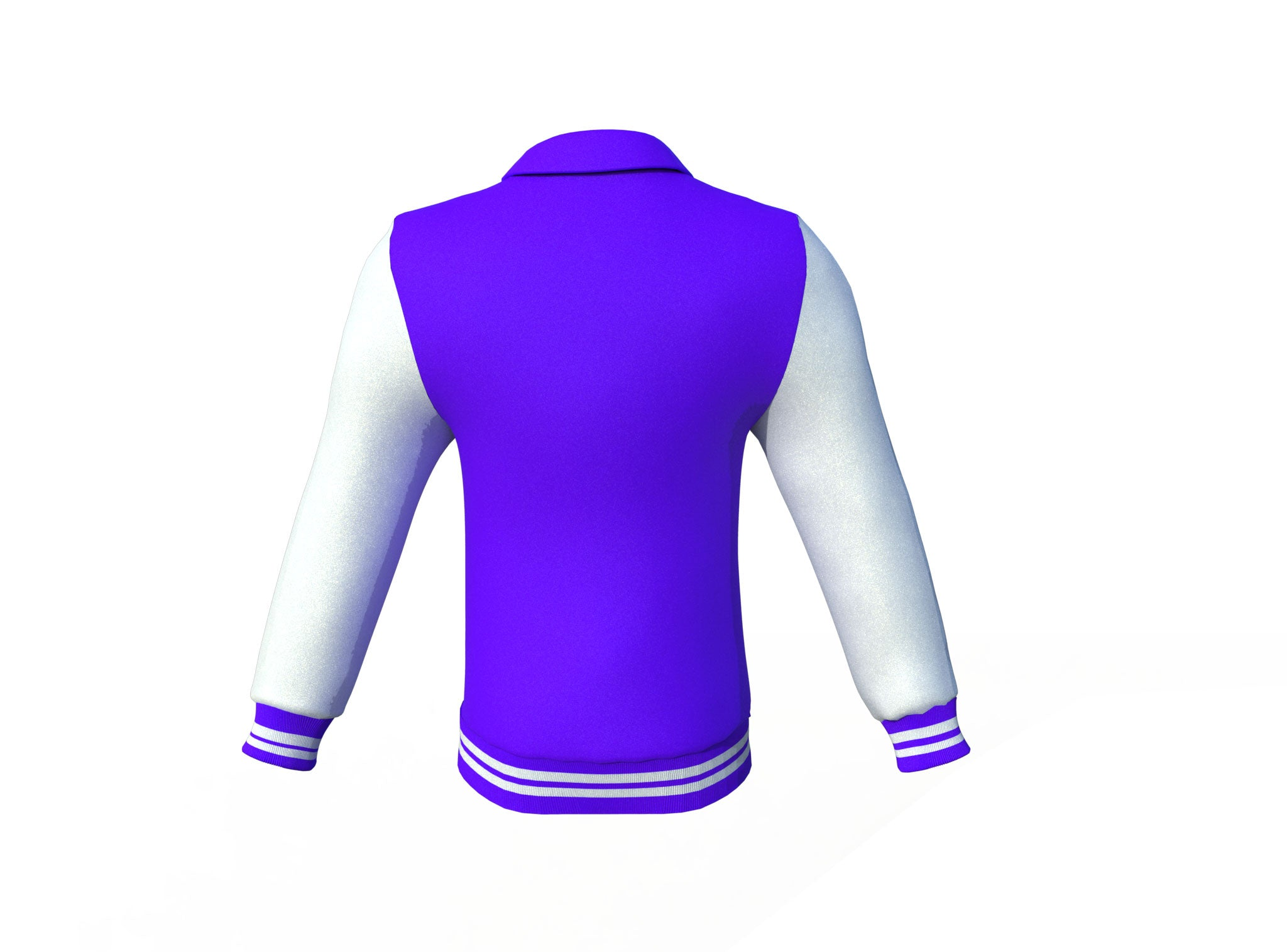 Purple Varsity Letterman Jacket with White Sleeves