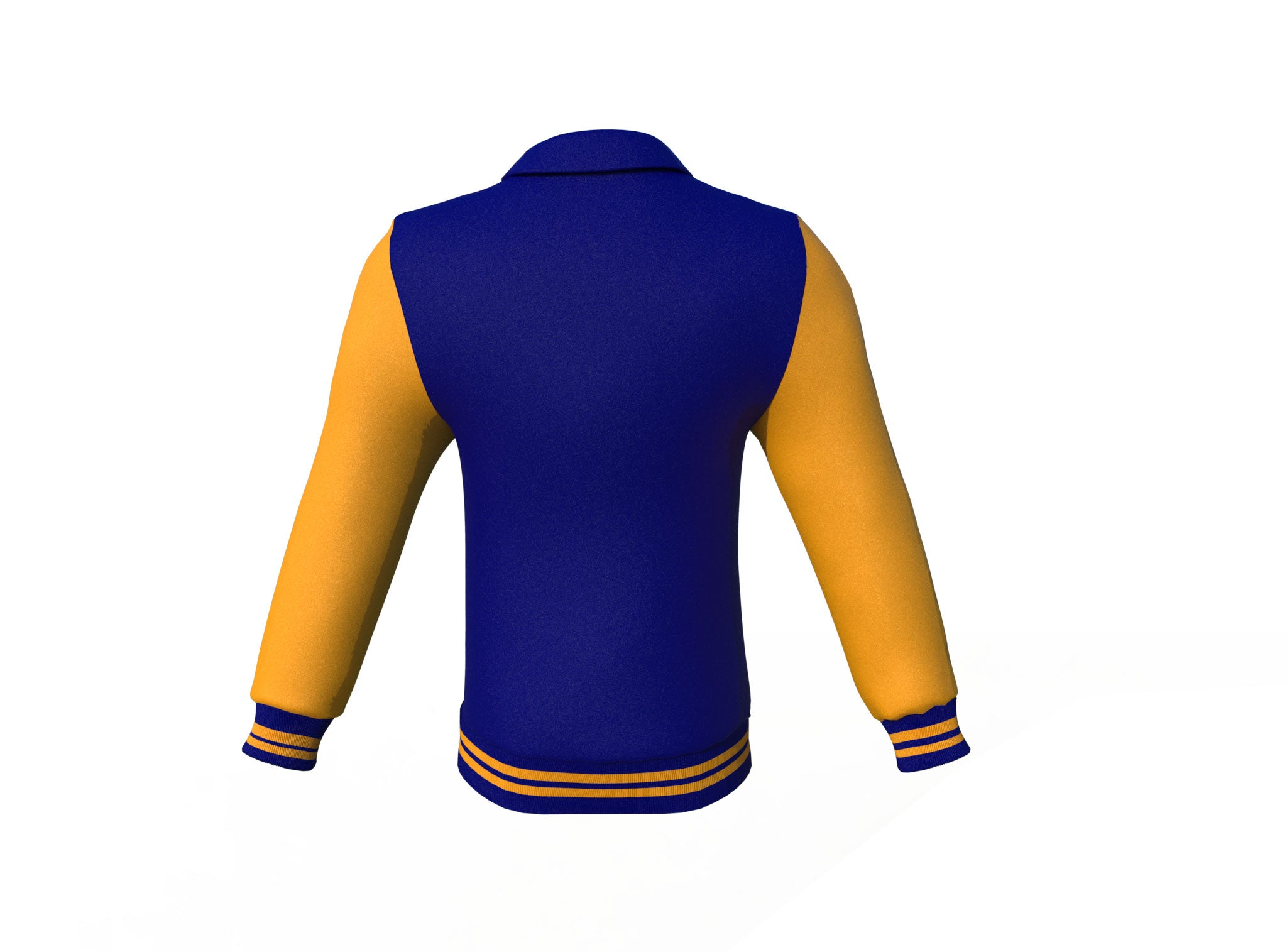 Navy Varsity Letterman Jacket with Gold Sleeves