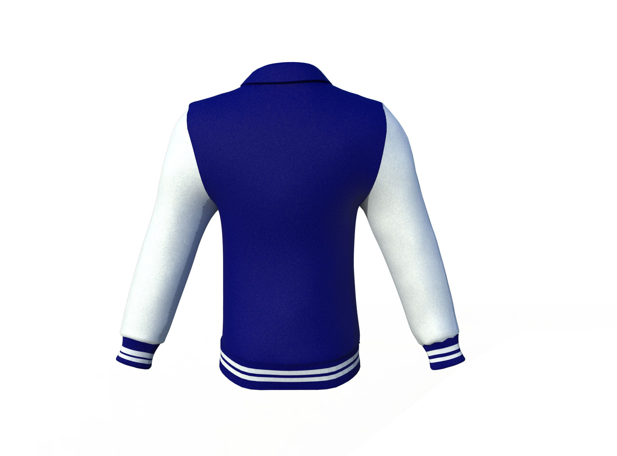 Navy Varsity Letterman Jacket with White Sleeves
