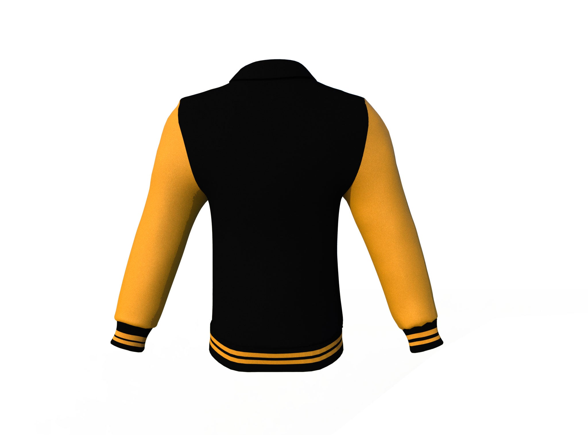 Black Varsity Letterman Jacket with Gold Sleeves