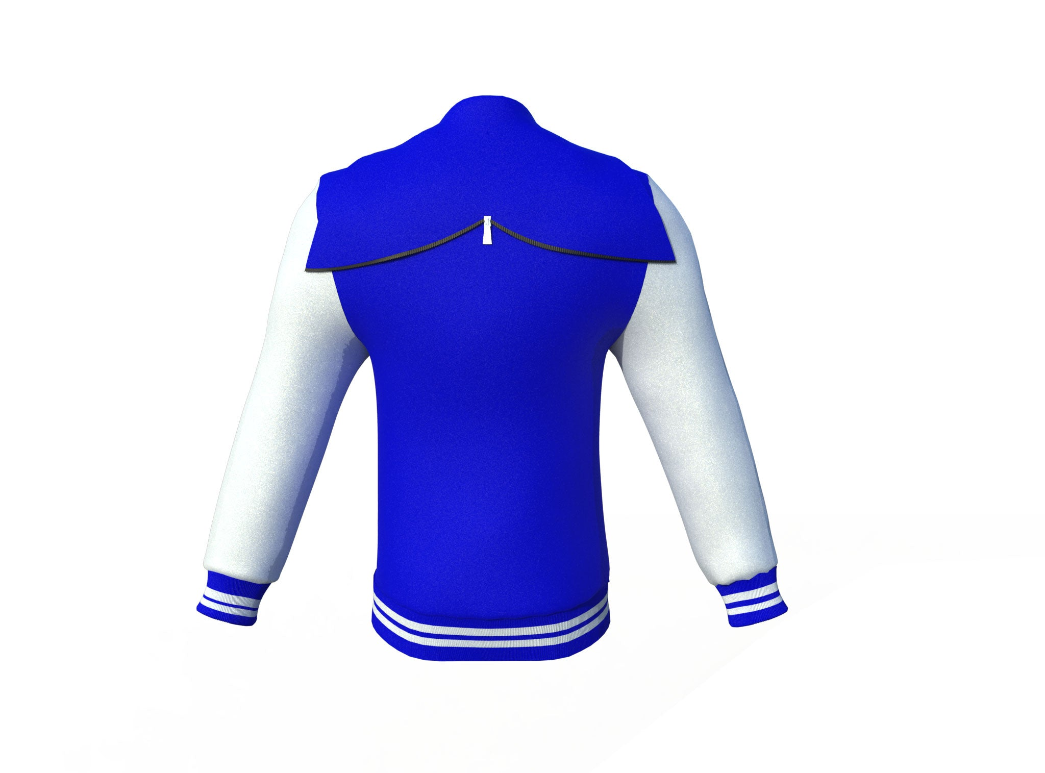 Blue Varsity Letterman Jacket with White Sleeves