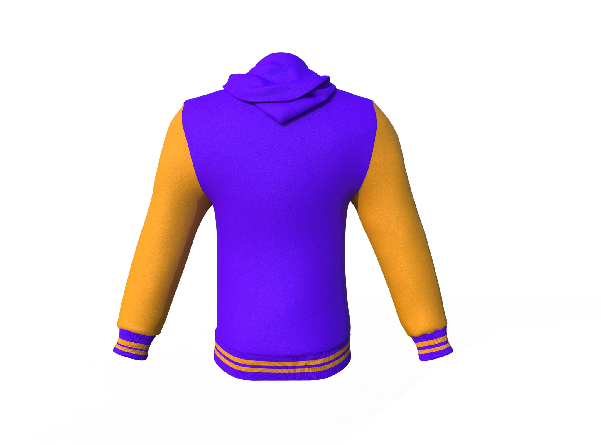 Purple Varsity Letterman Jacket with Gold Sleeves
