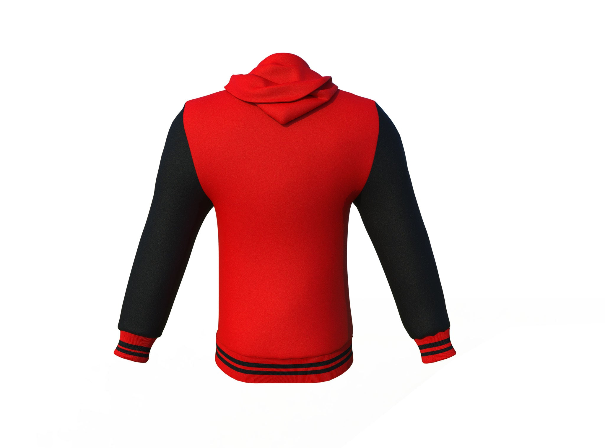 Red Varsity Letterman Jacket with Black Sleeves