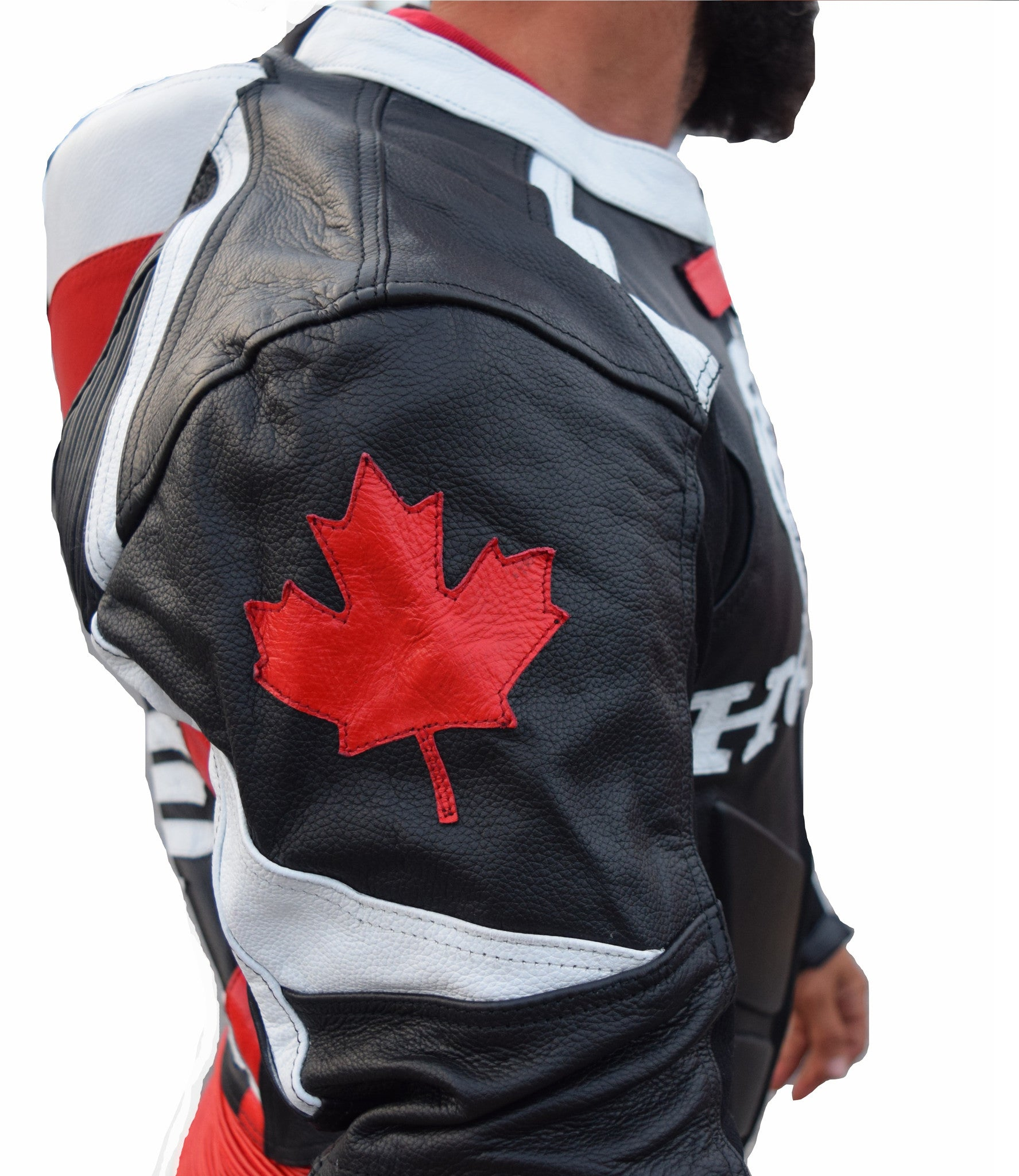 Canadian honda motorcycle leather suit - Lusso Leather - 4