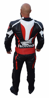 Canadian honda motorcycle leather suit - Lusso Leather - 3
