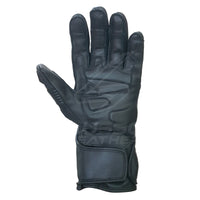 Gauntlet Motorcycle racing gloves with stretch leather