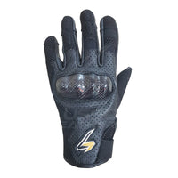 Air flow Breathable short cuff Motorcycle riding Leather Gloves