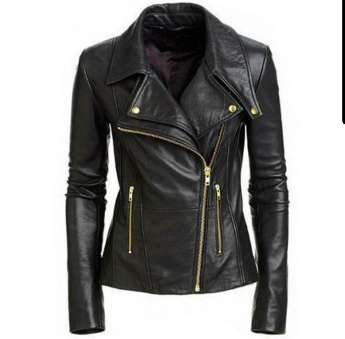 Hailey Biker Jacket with double lapels- PRE MADE CLEARANCE