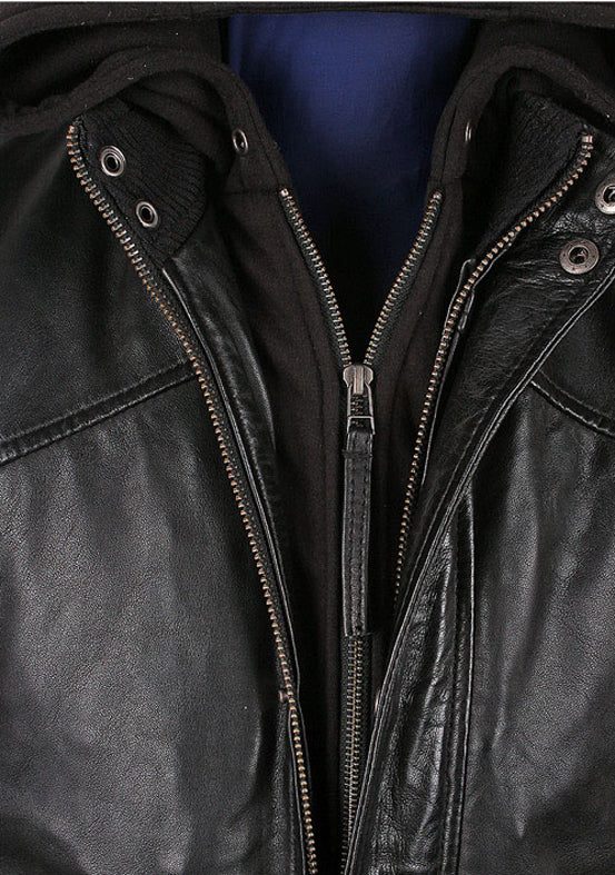 Men's Turku Black Leather Jacket
