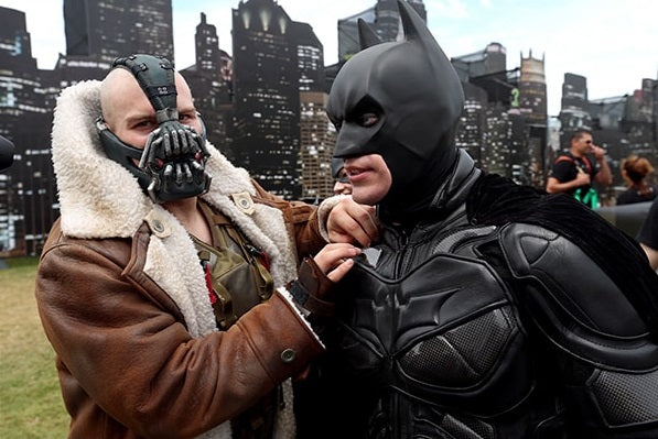 The Dark Knight Rises Bane's Distressed Shearling Trench Coat