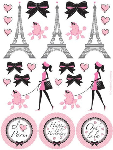 Paris Party Stickers (4 Sheets)