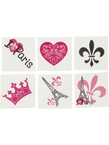 Paris Temporary Tattoos (72pk)