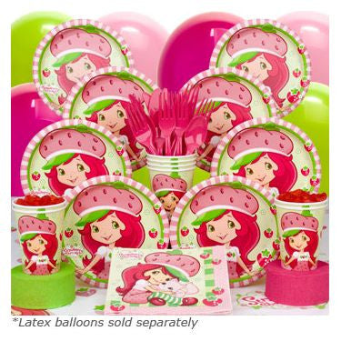 Strawberry Shortcake Birthday Party Deluxe Tableware Kit Serves 8