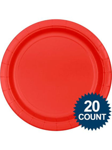 "Red 10"" Paper Plates, 20 ct."