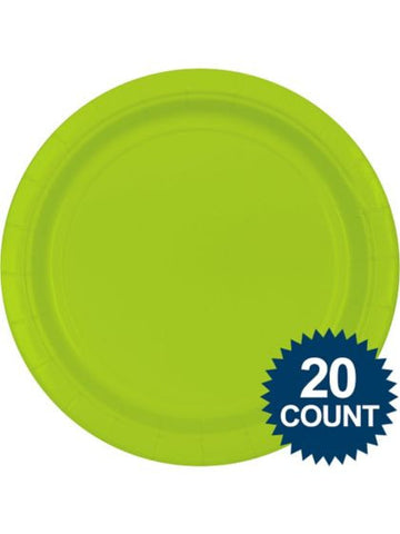 "Lime Green 10"" Paper Plates, 20 ct."