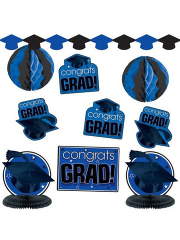 Graduation Decoration Kit- Blue & Black