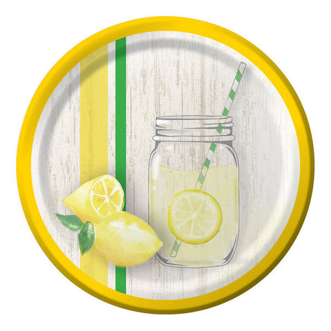 "Lemonade Days 7"" Cake Plates (8 Count)"