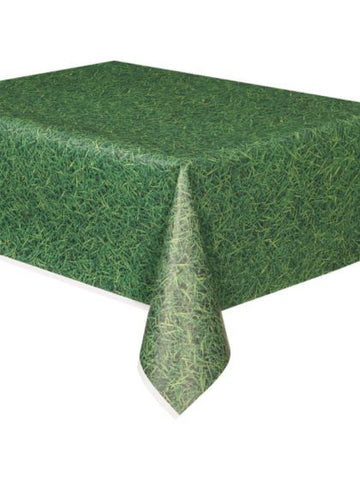 Minecraft Grass Print Plastic Table Cover