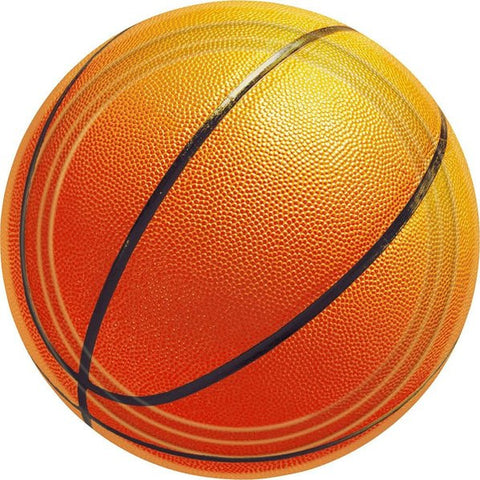 Basketball Cake Plates (8 Pack)