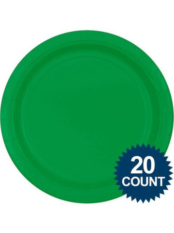 "Green 10"" Paper Plates, 20 ct."