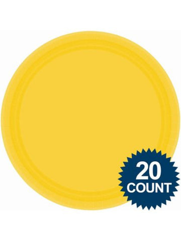 "Bright Yellow 10"" Paper Plates, 20 ct."