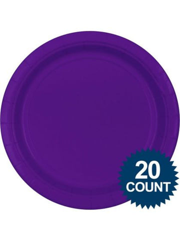 "Purple 10"" Paper Plates, 20 ct."