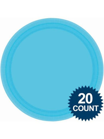 "Bright Blue 10"" Paper Plates, 20 ct."