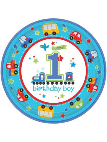 "All Aboard 1st Birthday 10 1/2"" Luncheon Plates (18 Pack)"