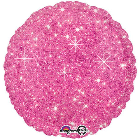 "Hot Pink Sparkle 17"" Balloon (4 pack)"
