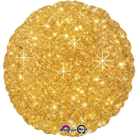 "Gold Sparkle 17"" Balloon (4 pack)"