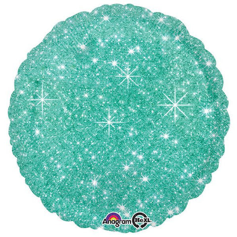 "Mint Green Sparkle 17"" Balloon (4 pack)"