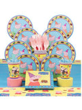 Peppa Pig Birthday Party Deluxe Tableware Kit Serves 8