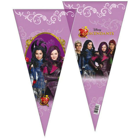 Disney Descendants Cone Shaped Goodie Bags (6 count)