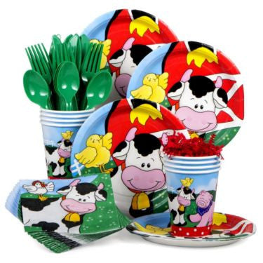 Farm Friends Barnyard Birthday Standard Tableware Kit Serves 8