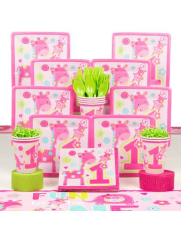 Wild Girl 1st Birthday Deluxe Kit- Serves 8