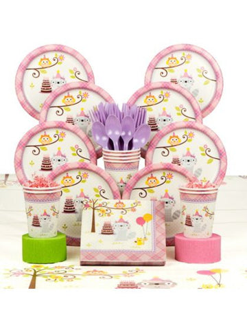 Happy Woodland Girl Party Deluxe Kit Serves 8