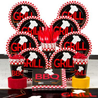 BBQ Party Deluxe Tableware Kit Serves 8