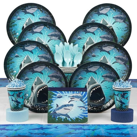 Shark Party Deluxe Birthday Kit (Serves 8)