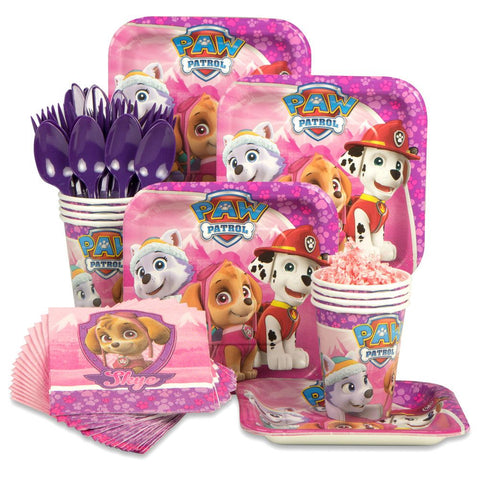 Paw Patrol Pink Standard Birthday Kit (Serves 8)