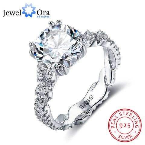 Engagement Ring 10mm 3.5 CT Sterling Silver Rings For Women