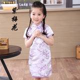 2018 Cute Girls' summer Dresses Kid Chinese chi-pao cheongsam New Year gift Party Children's Clothes Robe Baby Qipao