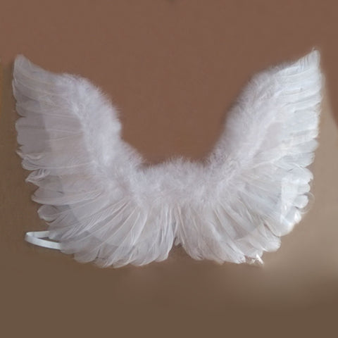 Black and White Angel Feather Wings - Adult or Kids