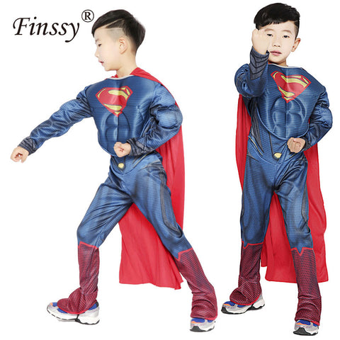 Hot Movie Superman Cosplay Costume for Kids