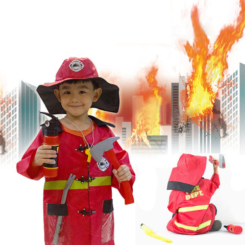 Kids Sam firefighter costume set
