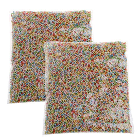 2 bags Colorful Styrofoam Mini FoamBeads For Slime