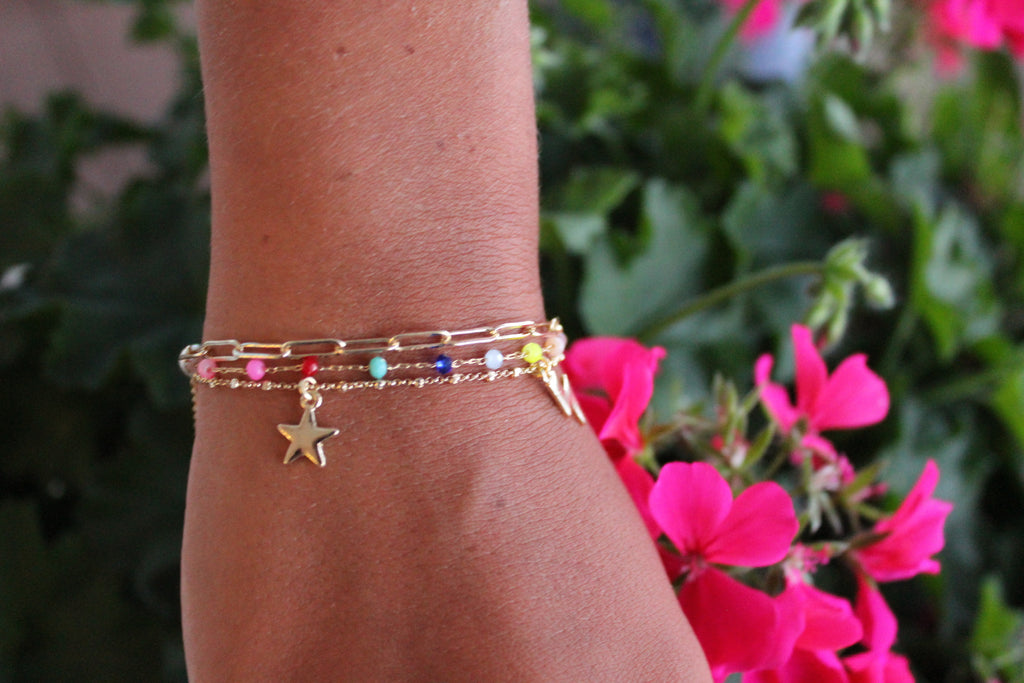 Multi-Strand Star + Bolt Bracelet